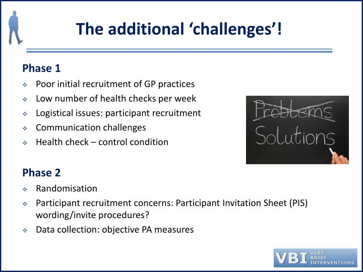 The additional 'challenges'!