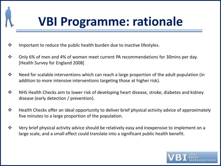 VBI Programme: rationale