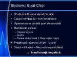 sindromul budd chiari