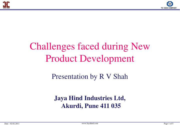 challenges faced during new product development n.