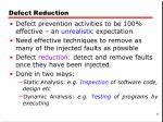 defect reduction