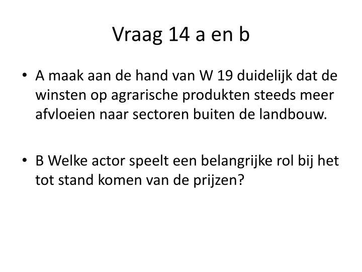 Vraag 14 a en b