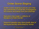 crime scene staging