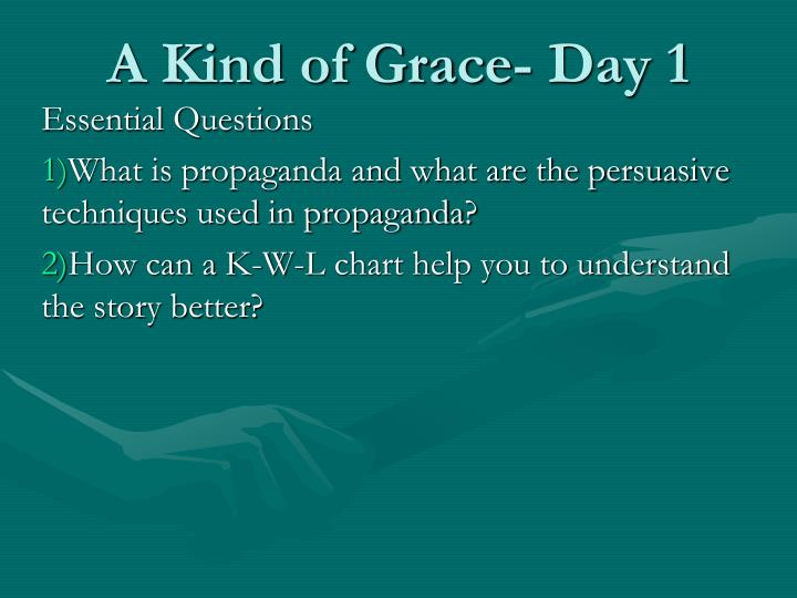 A kind of grace day 1