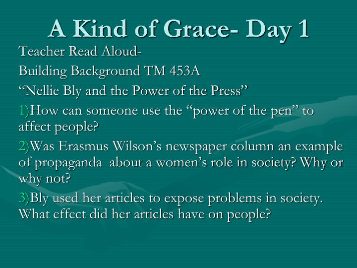 A kind of grace day 11