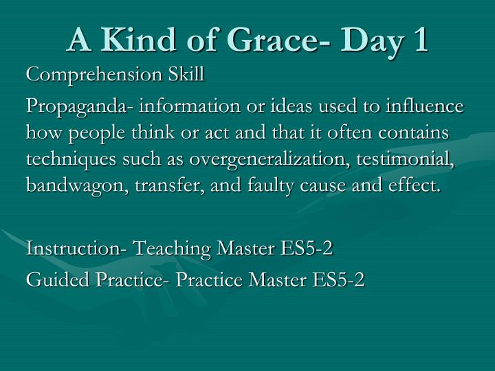 A kind of grace day 12