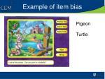 example of item bias