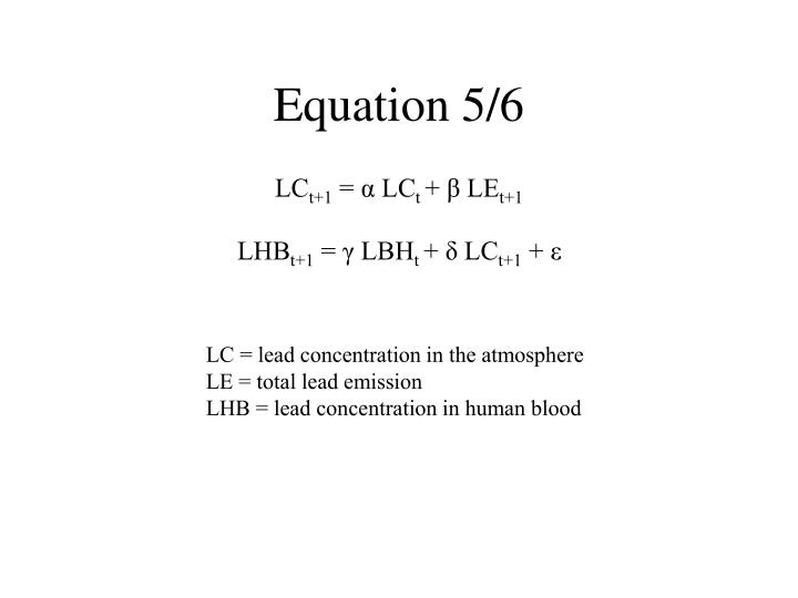Equation 5/6