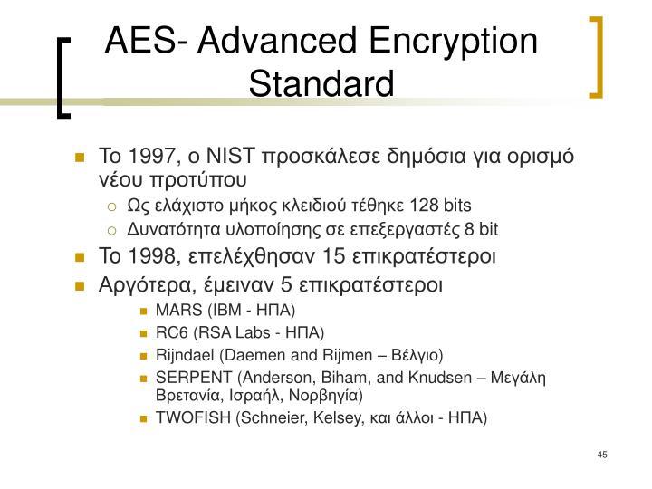AES- Advanced Encryption Standard