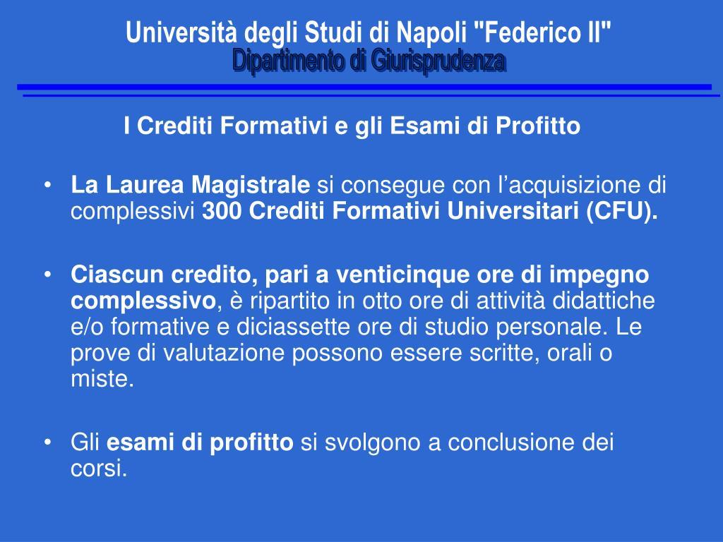 Calendario Esami Giurisprudenza Unina.Ppt Universita Degli Studi Di Napoli Federico Ii