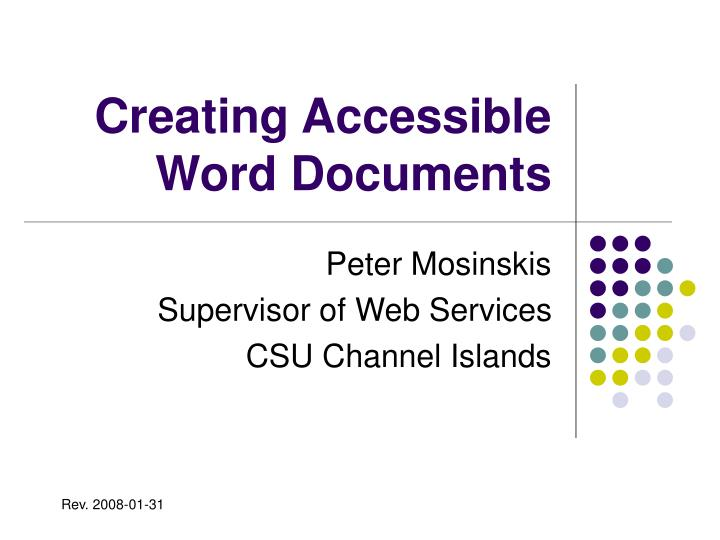 creating accessible word documents n.