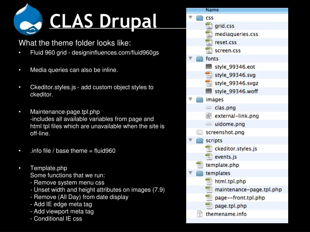 PPT - CLAS Drupal PowerPoint Presentation - ID:5677506