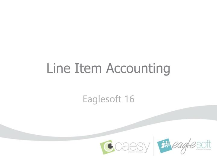 Line item accounting