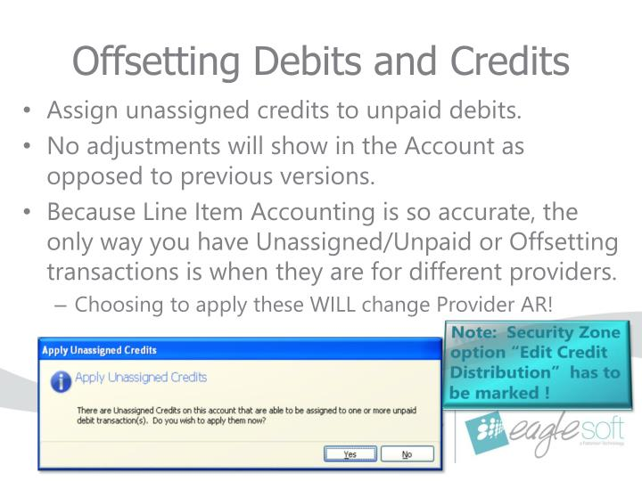 Offsetting Debits and Credits