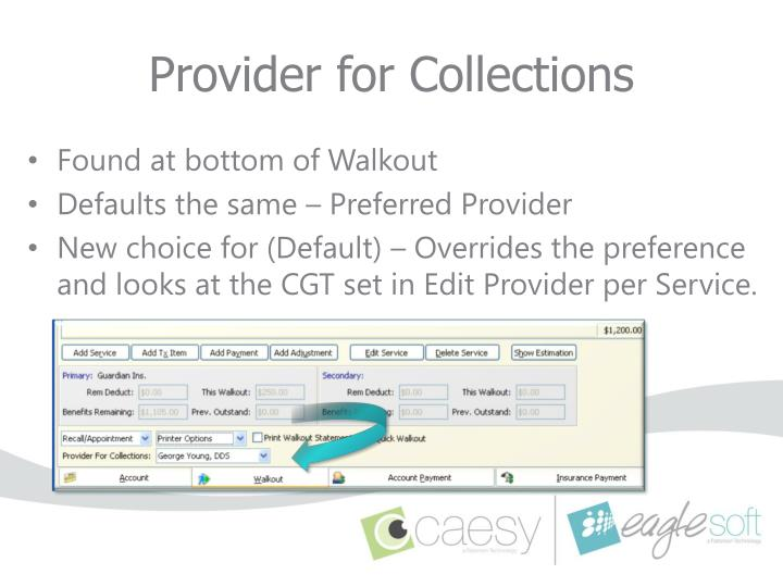 Provider for Collections