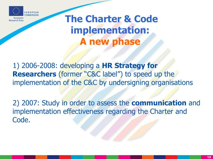 The Charter & Code implementation: