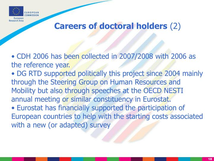 Careers of doctoral holders
