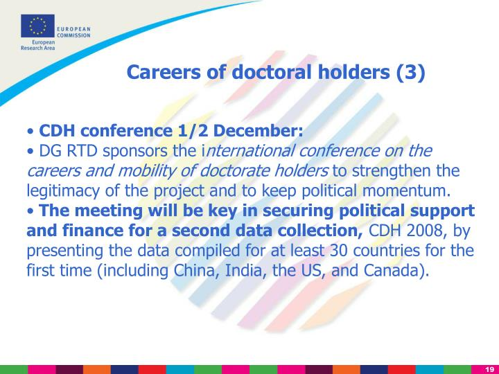 Careers of doctoral holders (3)