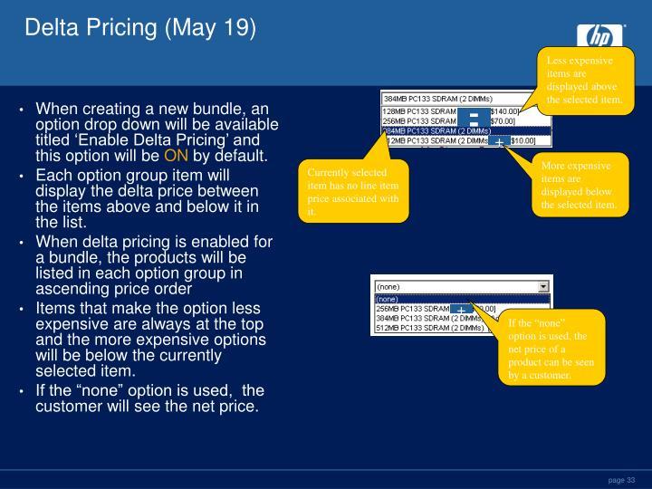 Delta Pricing (May 19)