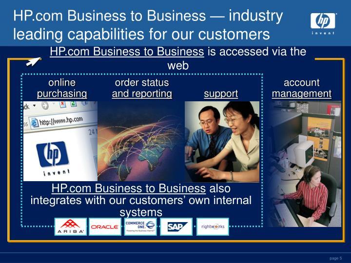 HP.com Business to Business —