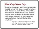 what employers say1