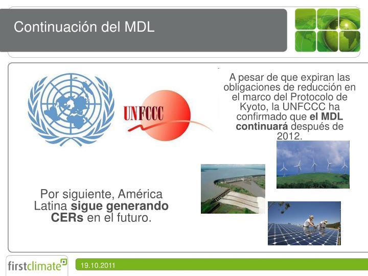 Continuación del MDL