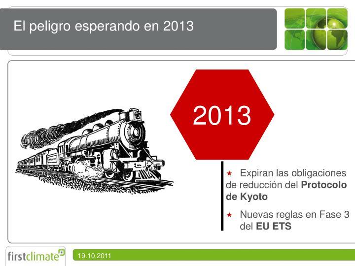 El peligro esperando en 2013