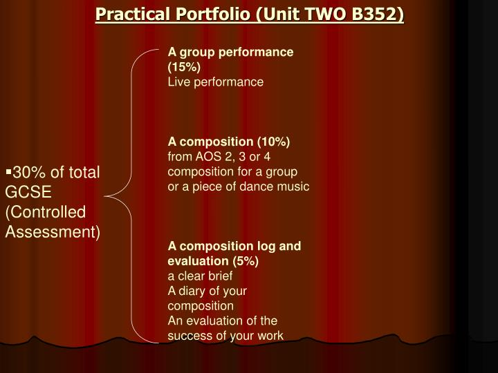 Practical Portfolio (Unit TWO B352)