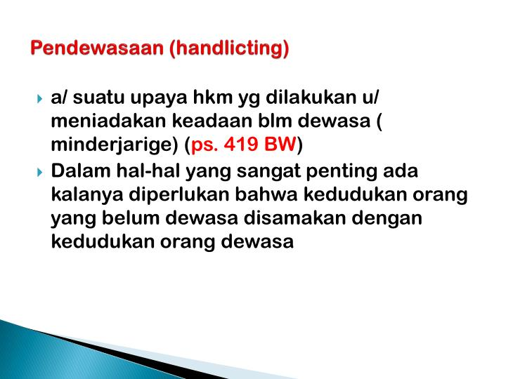 Pendewasaan handlicting