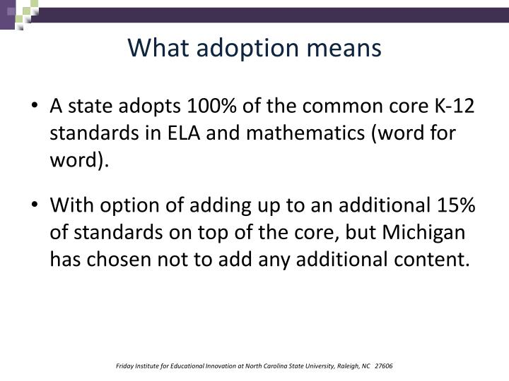 What adoption means