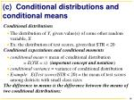 c conditional distributions and conditional means