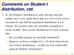 comments on student t distribution ctd1