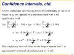 confidence intervals ctd
