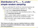 distribution of y 1 y n under simple random sampling