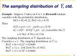 the sampling distribution of ctd