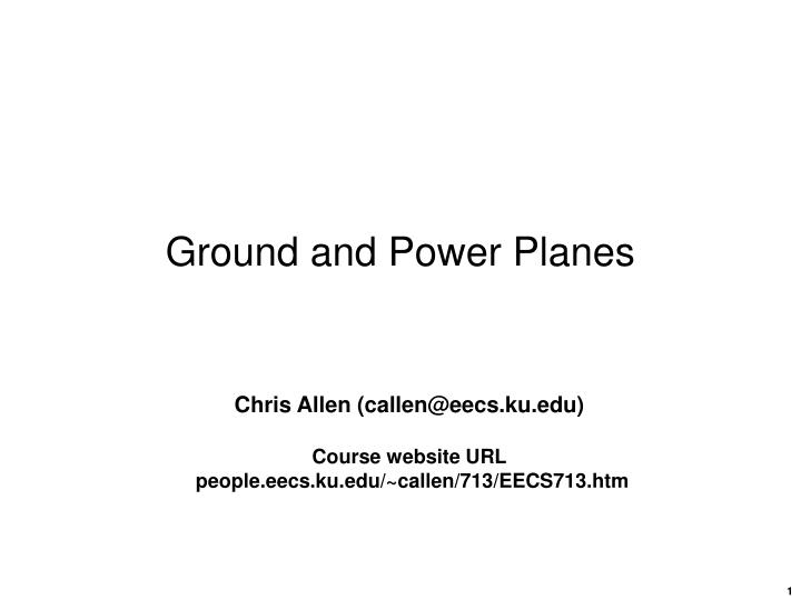 ground and power planes n.