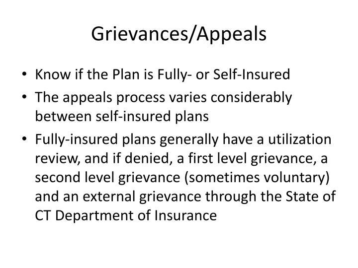 Grievances/Appeals