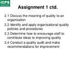 assignment 1 ctd