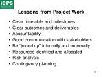 lessons from project work