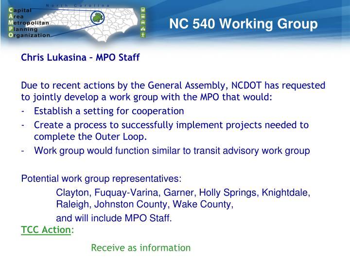 NC 540 Working Group