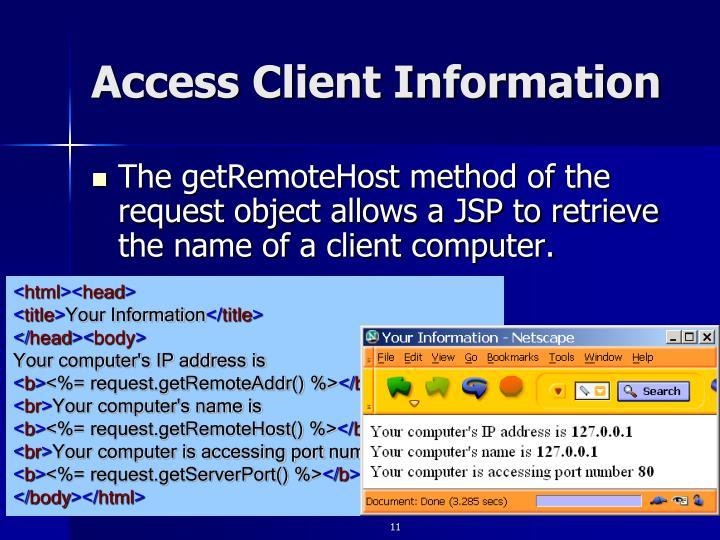 Access Client Information