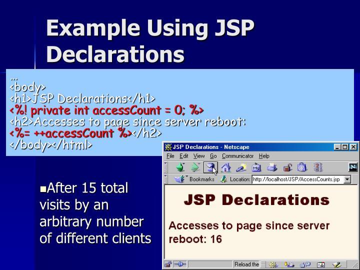 Example Using JSP Declarations