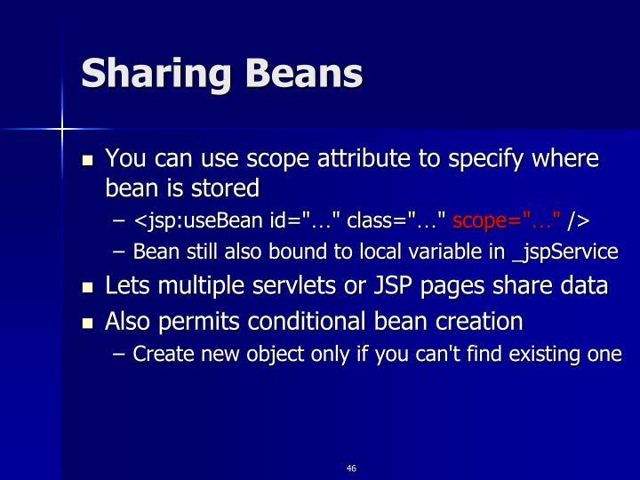 Sharing Beans