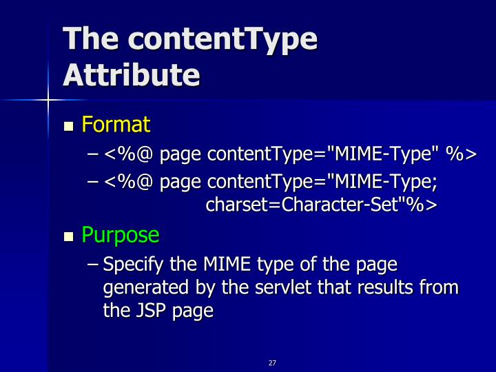 The contentType Attribute