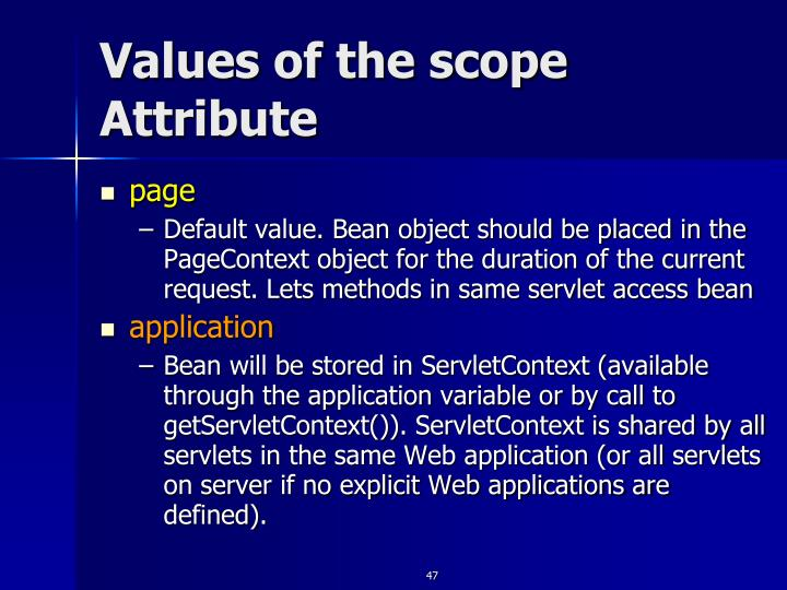 Values of the scope Attribute