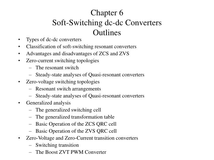 chapter 6 soft switching dc dc converters outlines n.