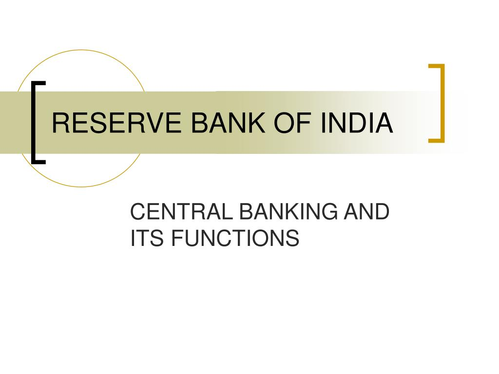 reserve bank of india act ppt