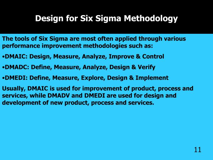 Design for Six Sigma Methodology