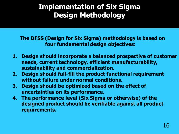 Implementation of Six Sigma