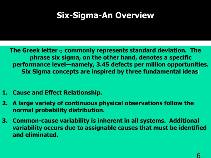 Six-Sigma-An Overview